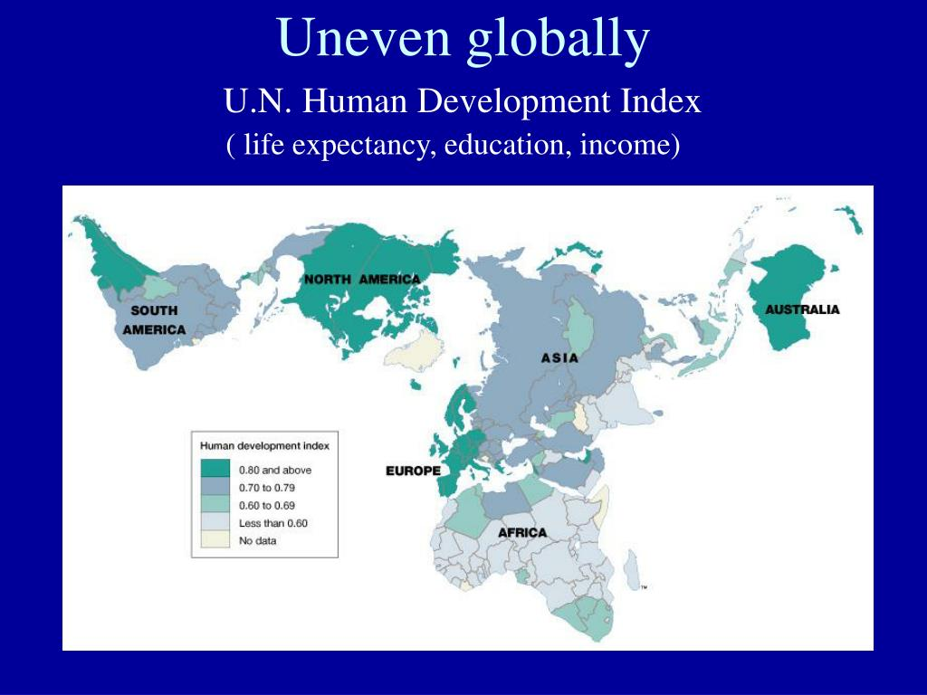 Uneven globally