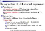 key enablers of dsl market expansion