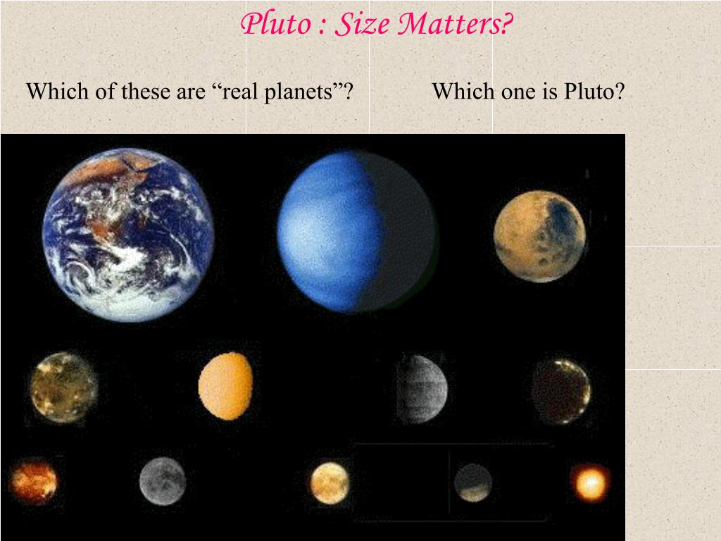 Pluto : Size Matters?