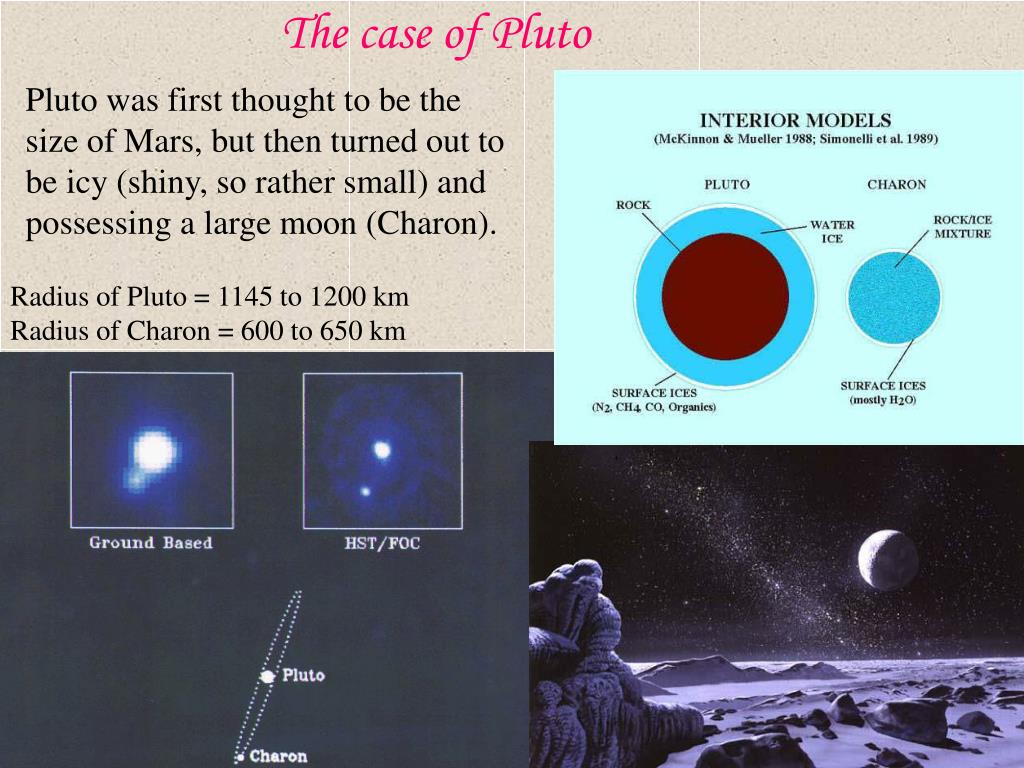 The case of Pluto