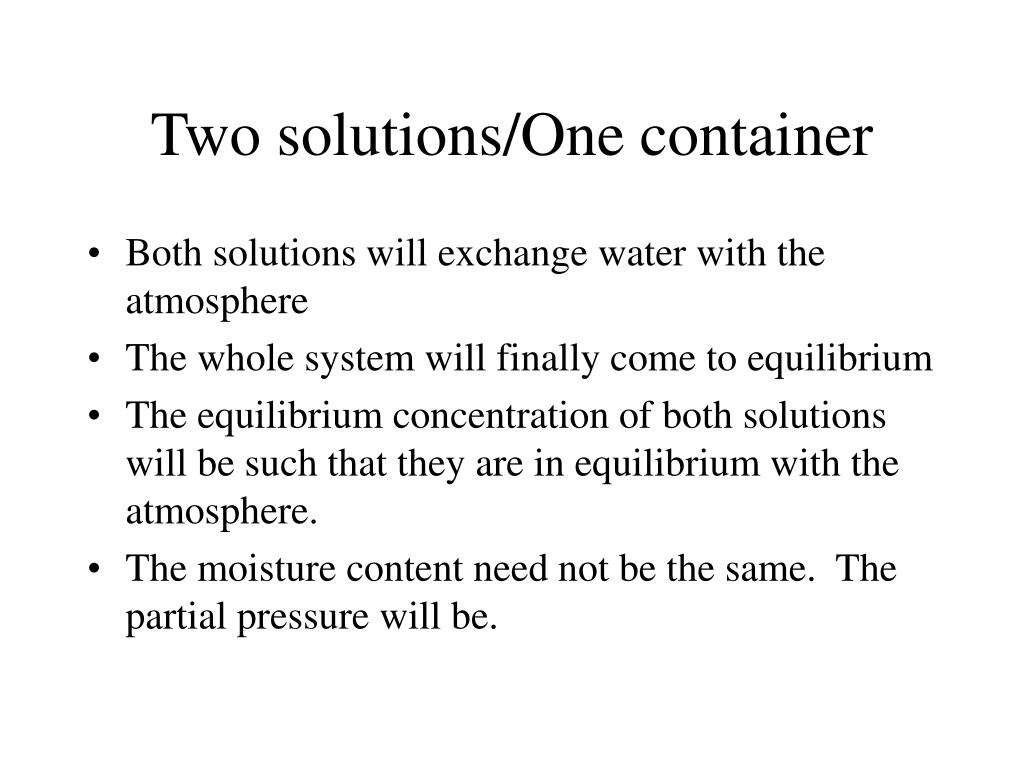 Two solutions/One container