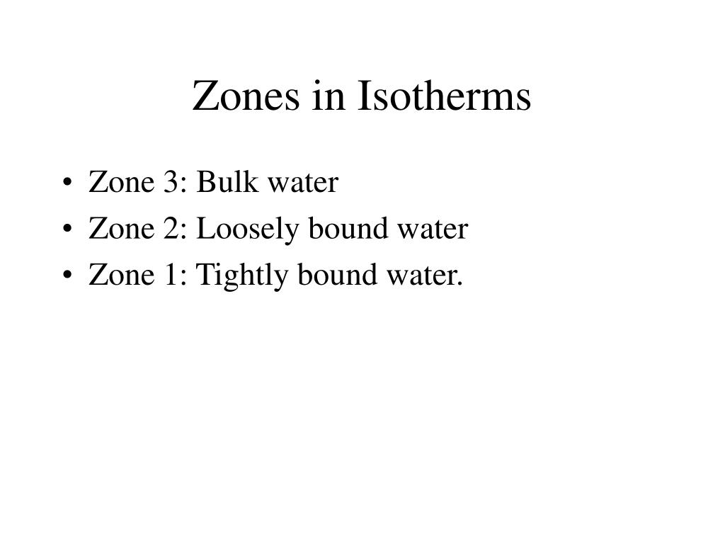 Zones in Isotherms