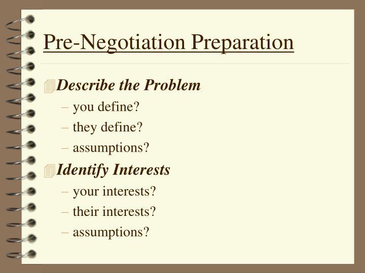 Pre-Negotiation Preparation
