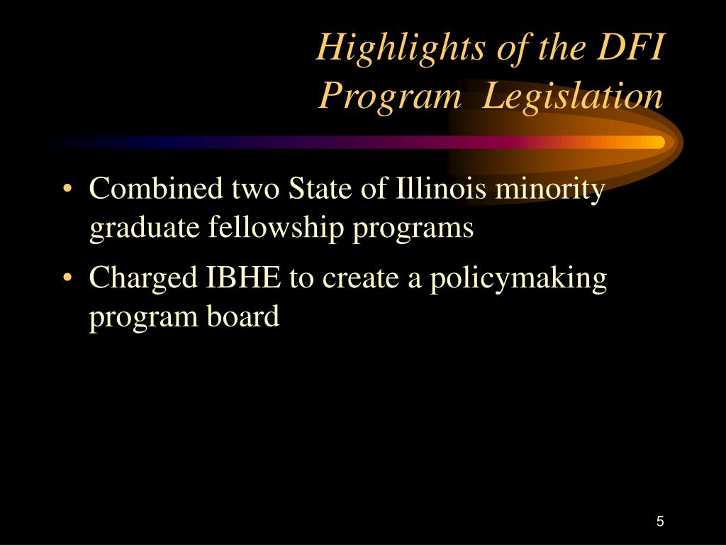 Highlights of the DFI