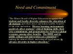 need and commitment