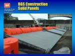 bgs construction solid panels