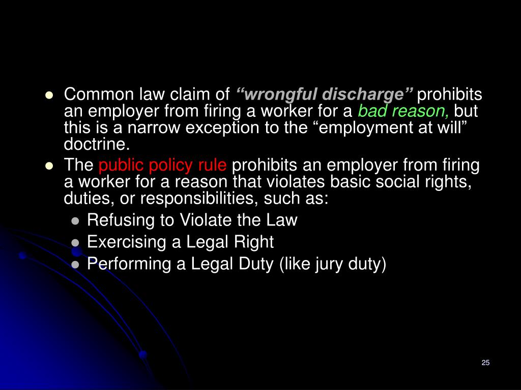 Common law claim of