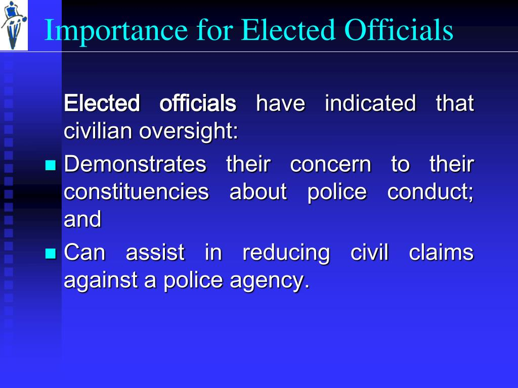 Importance for Elected Officials