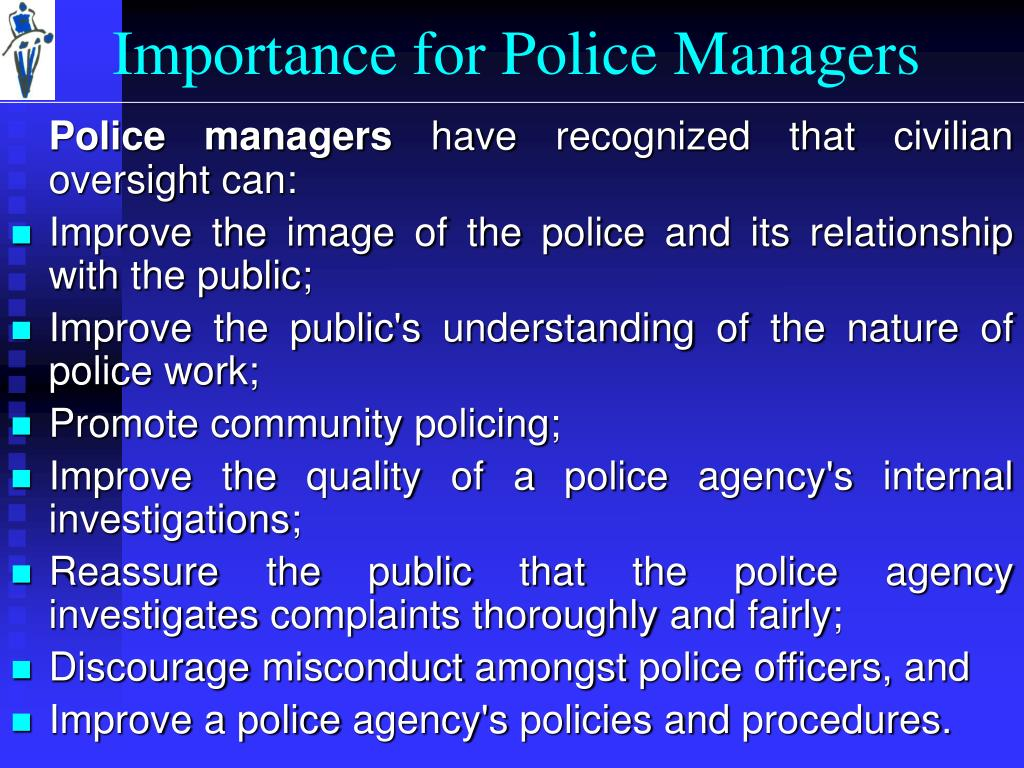Importance for Police Managers