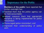 importance for the public