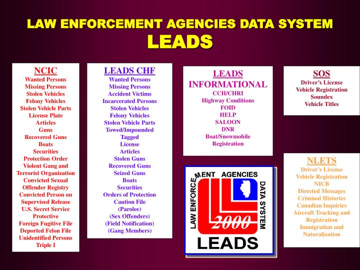 LAW ENFORCEMENT AGENCIES DATA SYSTEM