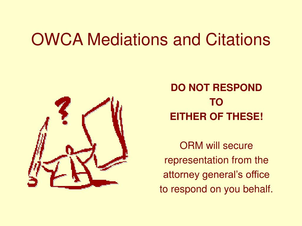 OWCA Mediations and Citations