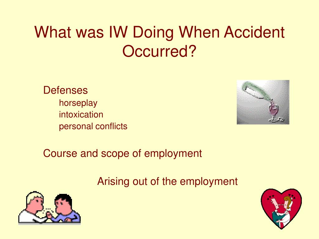 What was IW Doing When Accident Occurred?