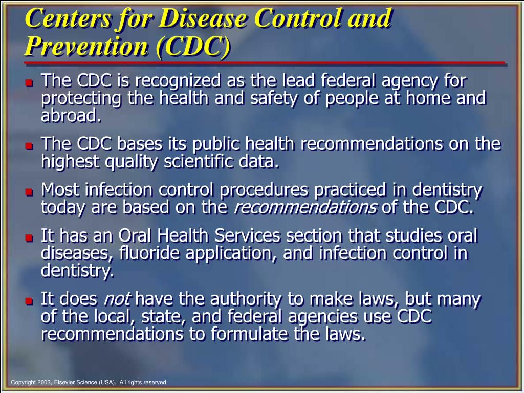 the history of the centers for disease control and prevention cdc Any comprehensive disease prevention and health promotion strategy for  americans  harold w (bill) kohl iii, phd (centers for disease control and  prevention (cdc) physical activity  people who were inactive and have  started to.