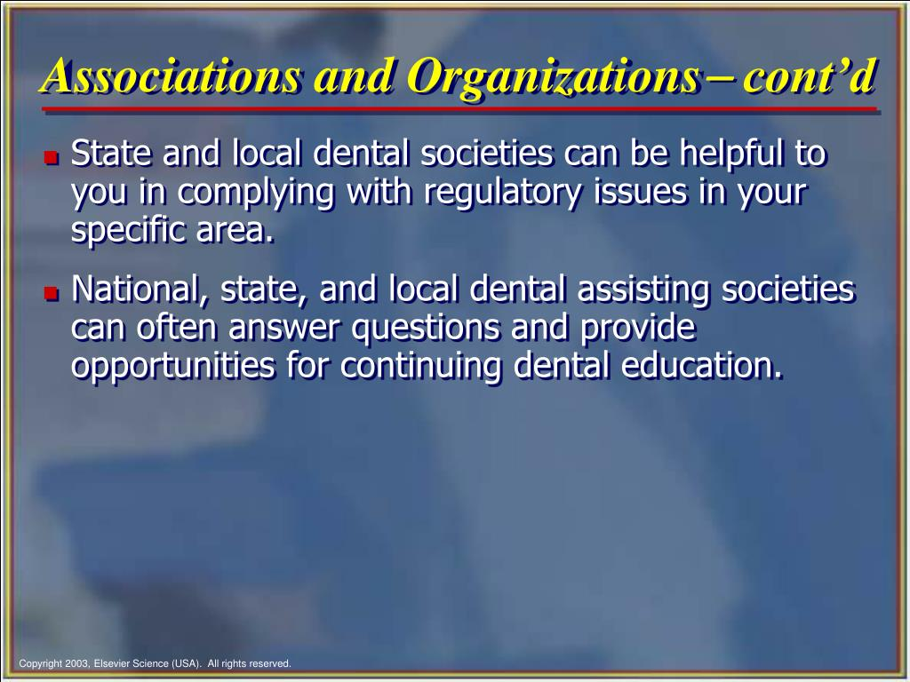 Associations and Organizations