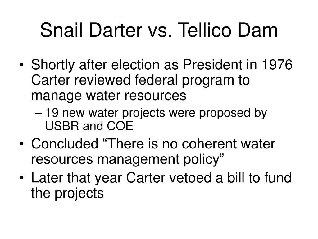 Snail Darter vs. Tellico Dam