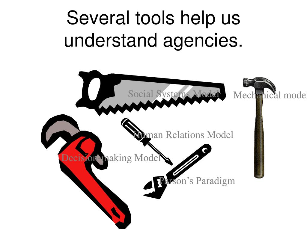 Several tools help us understand agencies.