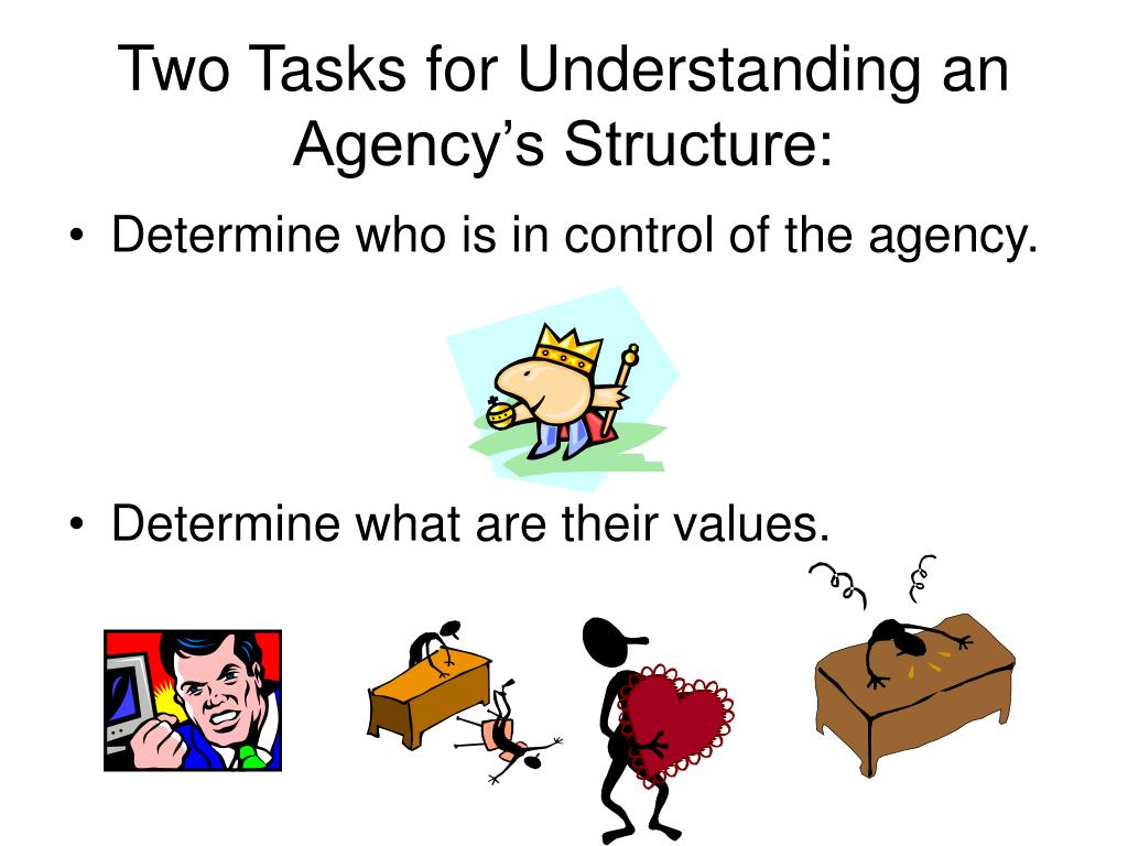 Two Tasks for Understanding an Agency's Structure: