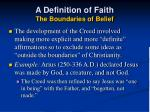 a definition of faith the boundaries of belief32