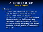 a profession of faith what is belief15