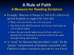a rule of faith a measure for reading scripture25