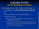 a symbol of faith critical theological concepts44
