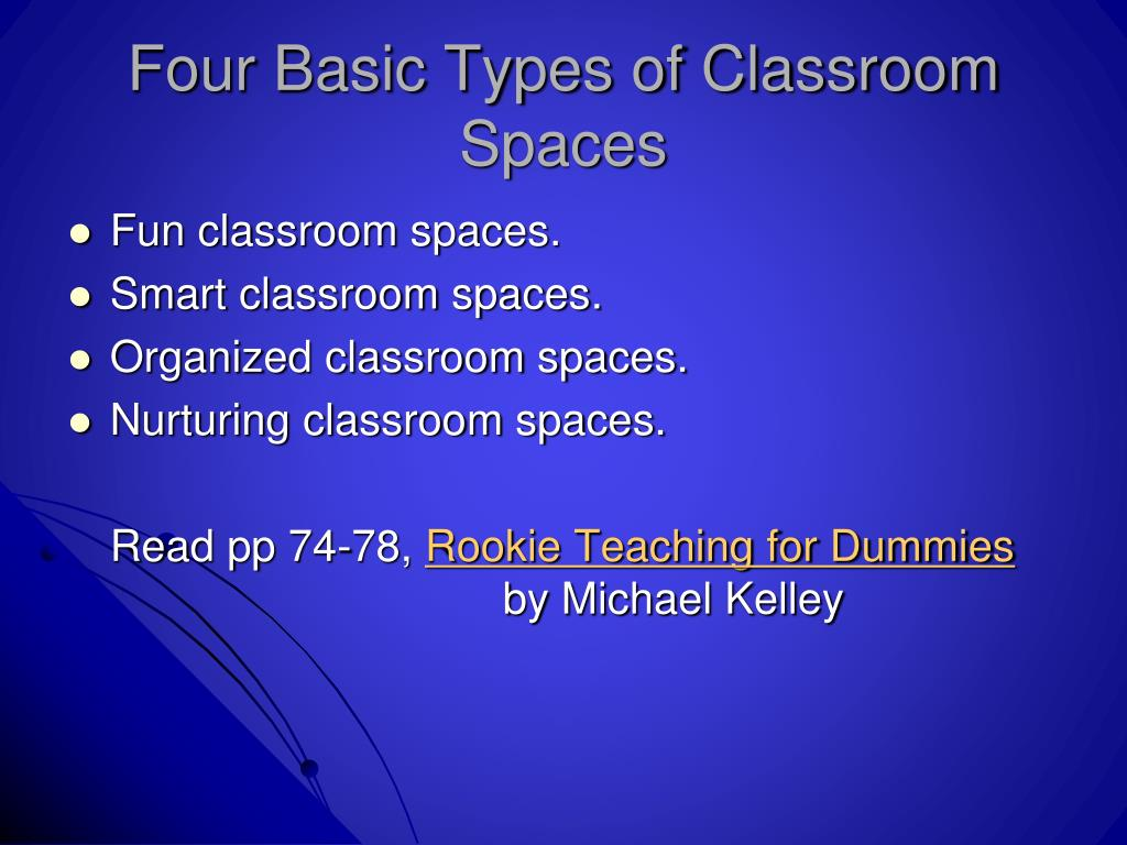 Four Basic Types of Classroom Spaces