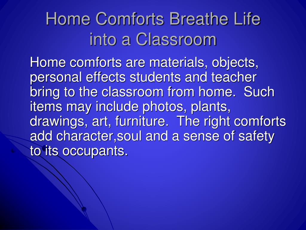 Home Comforts Breathe Life