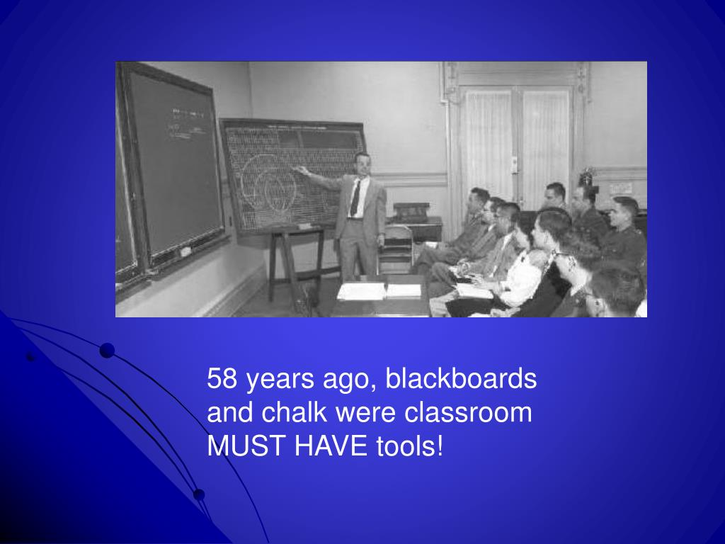 58 years ago, blackboards