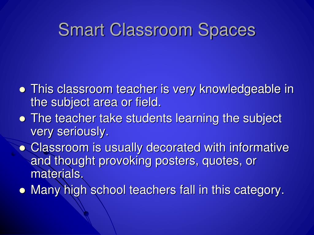 Smart Classroom Spaces