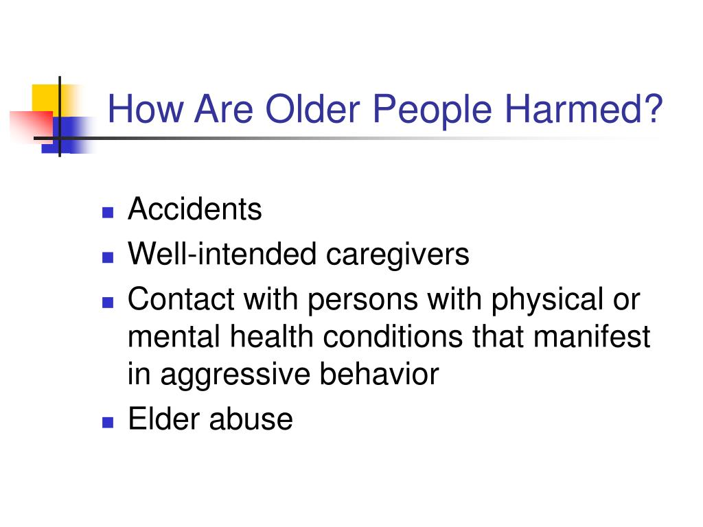 How Are Older People Harmed?