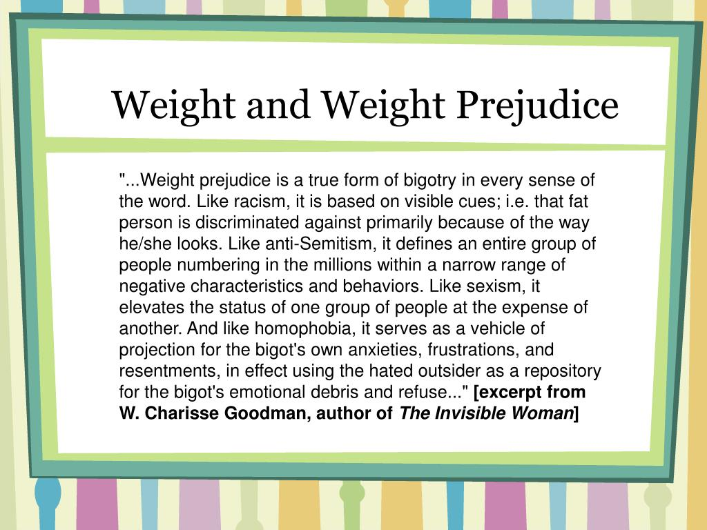 Weight and Weight Prejudice