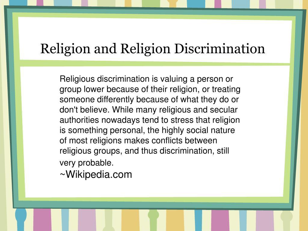 Religion and Religion Discrimination