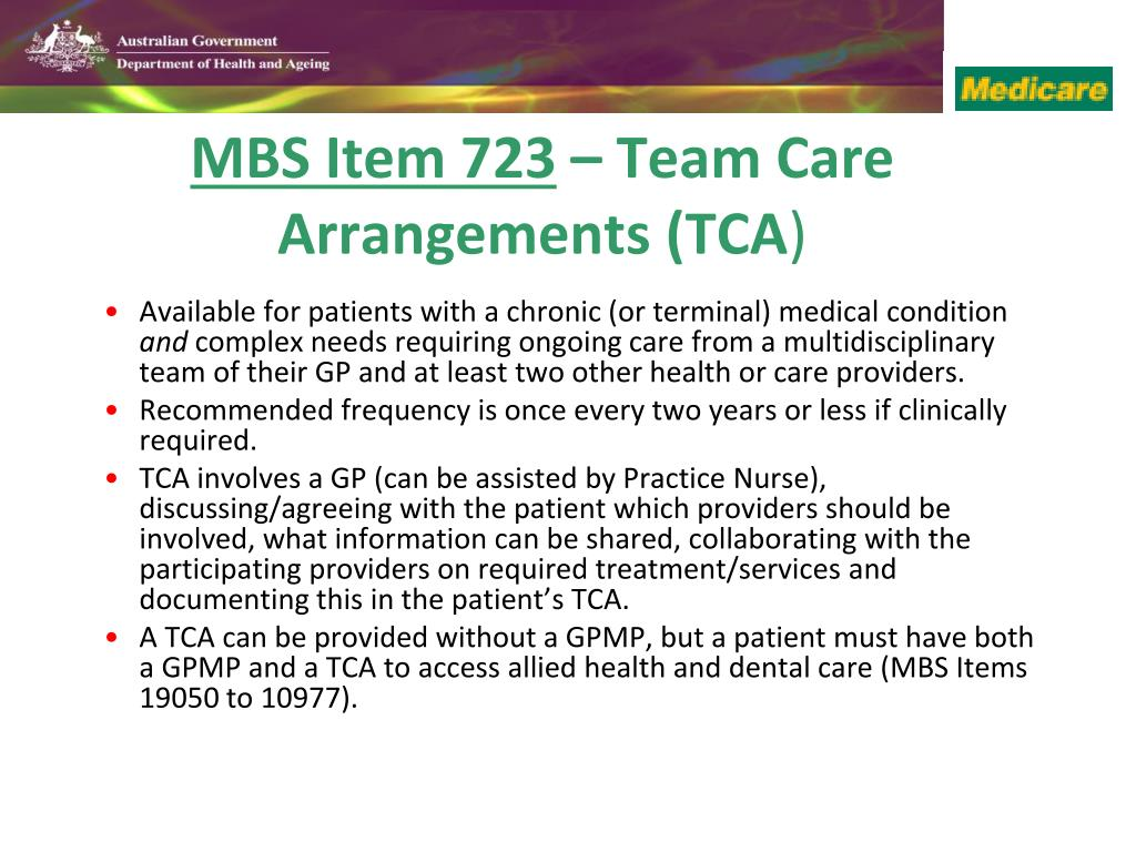 Available for patients with a chronic (or terminal) medical condition
