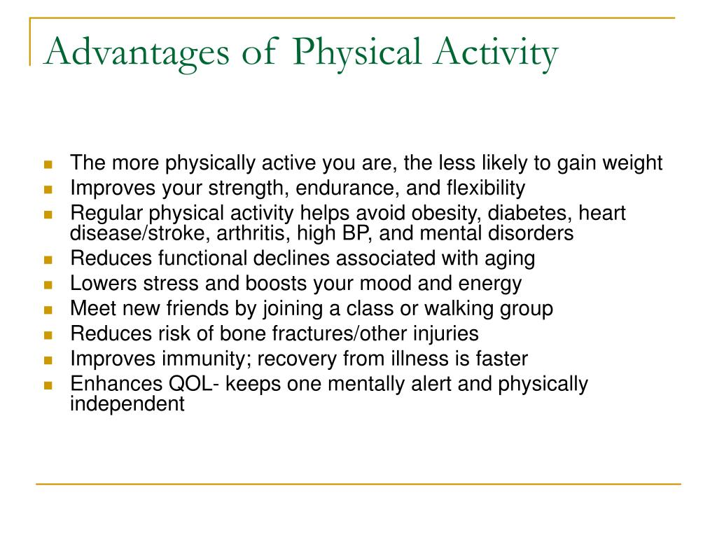Advantages of Physical Activity