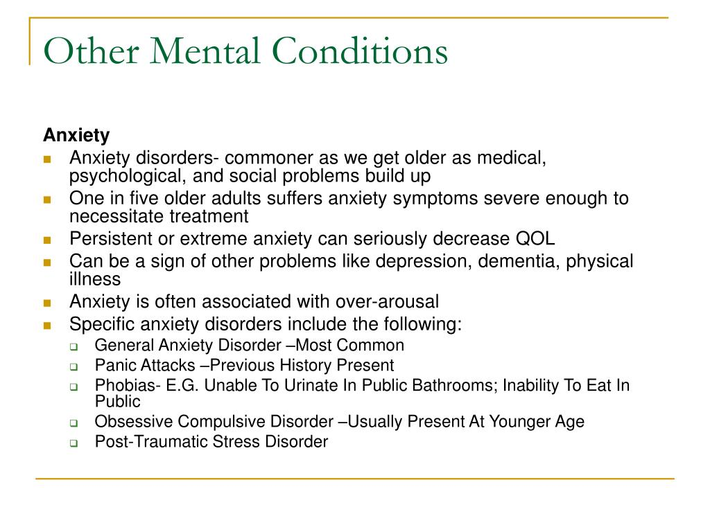 Other Mental Conditions