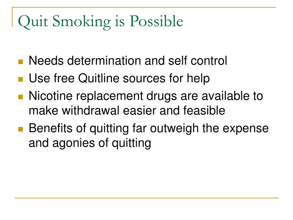 Quit Smoking is Possible
