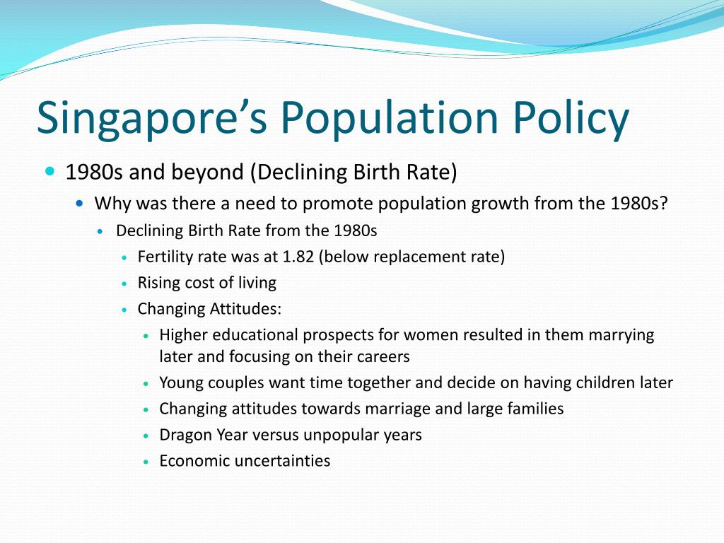 Singapore's Population Policy