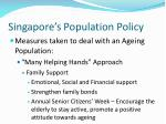 singapore s population policy61