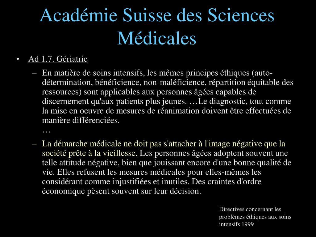 Académie Suisse des Sciences Médicales