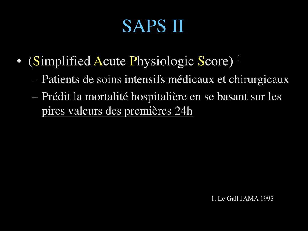 SAPS II