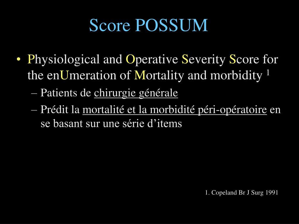 Score POSSUM