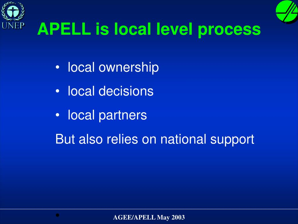 APELL is local level process