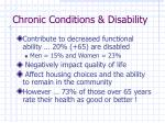 chronic conditions disability