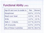 functional ability 2002