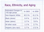 race ethnicity and aging