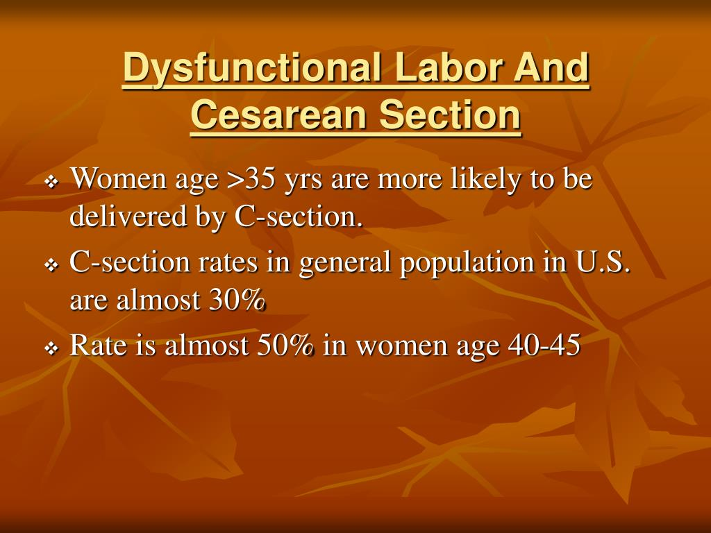 Dysfunctional Labor And Cesarean Section