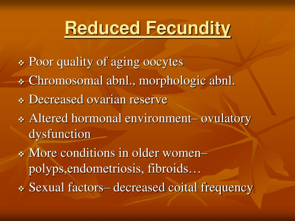 Reduced Fecundity