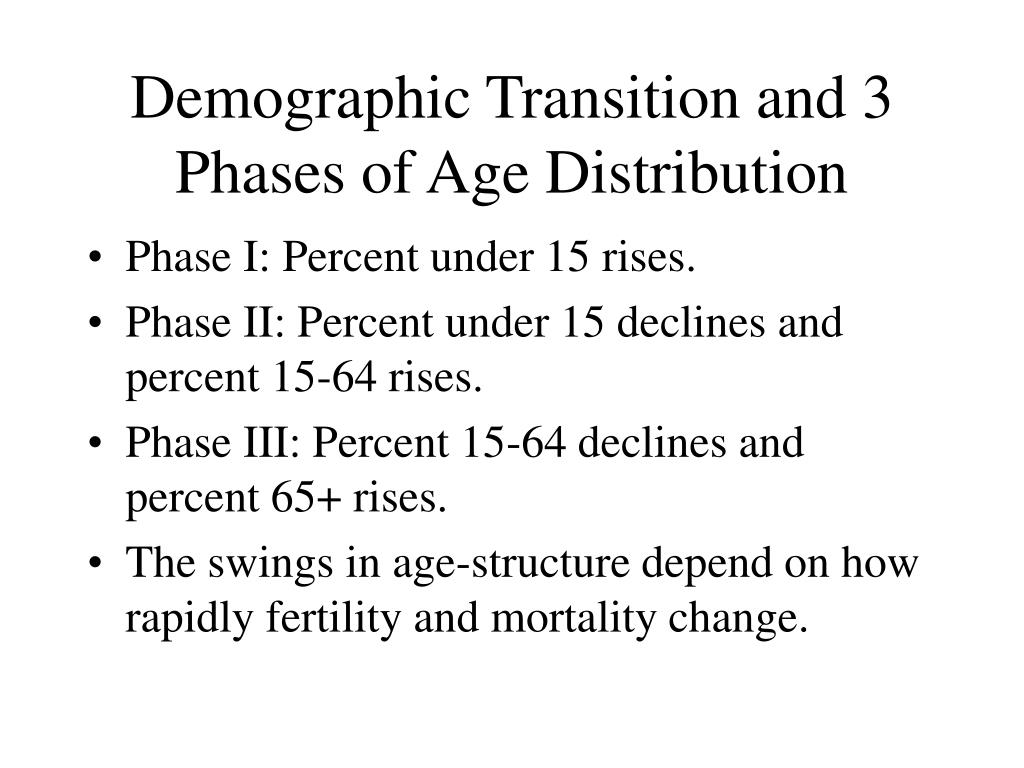 demography and demographic transition phase essay Demographics & disease •demography more statistically oriented & mainly concerned with dynamic forces defining population size & structure & their variation across time & space demographic transition model.