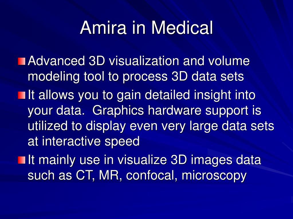 Amira in Medical